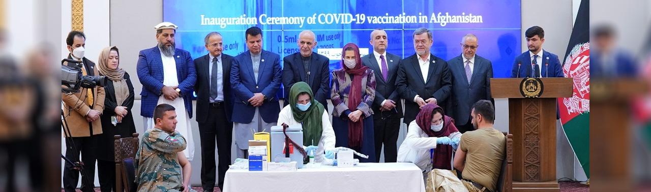 آغاز واکسناسیون ویروس کرونا در افغانستان؛ حکومت برای جانباختگان کارمندان صحی ناشی از کرونا منار یادبود می سازد