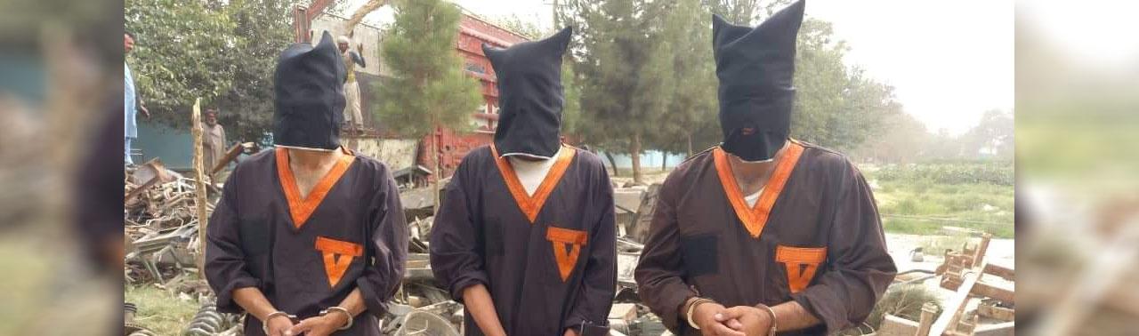 ۳ شورشی طالب در ارتباط با انتقال قطعات تانک های زرهی دستگیر شده اند
